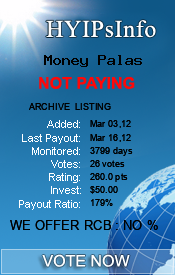 Money Palas Monitoring details on HYIPsInfo.com